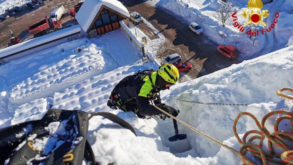 Schneefälle in Italien – Dutzende Einsätze für Feuerwehr