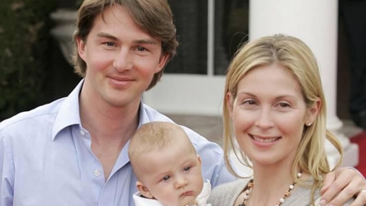 Da war die Welt noch in Ordnung: Kelly Rutherford 2007 mit Daniel Giersch und Söhnchen Hermes (Archiv)