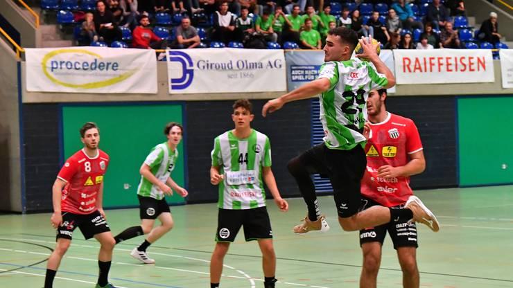 Die Dreitannenstädter sind auf Erfolgskurs: Die Männer des HV Olten qualifizieren sich Ende Jahr für die Finalrunde der 1. Liga.