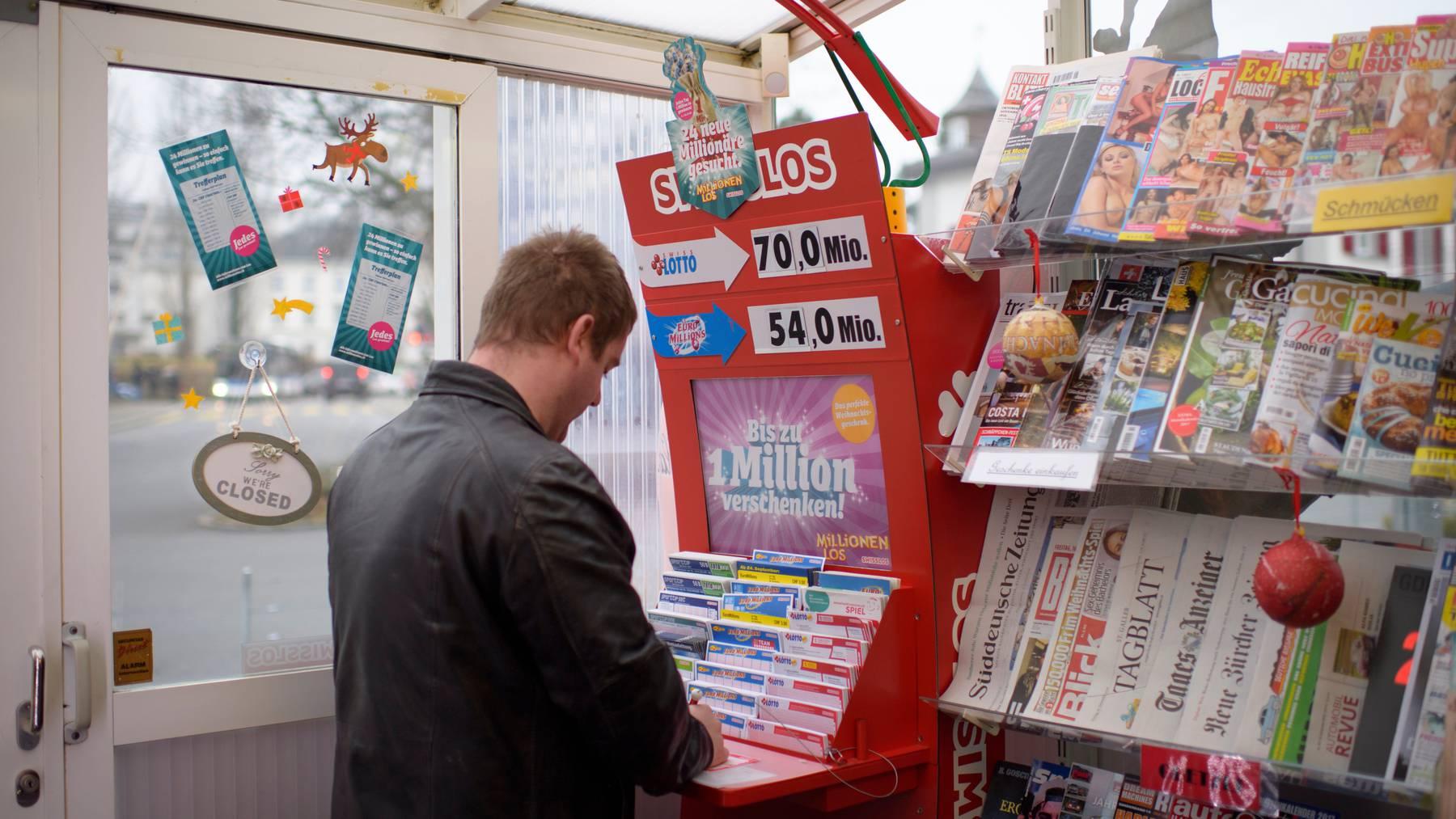 Eine unbekannte Person spielte in Muri bei Bern  Lotto – und gewann eine Million. Abgeholt hat sie das Geld bis heute aber nicht. (Symbolbild)