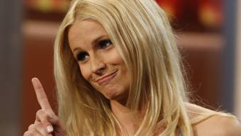 Michelle Hunziker in einer ihrer Fernseh-Shows, sie ist wieder schwanger und wird zum dritten Mal Mutter