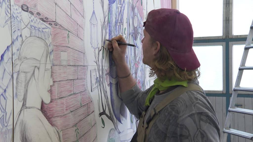 1000 Stunden Arbeit: Grösstes «Kugelschreiberbild» der Welt
