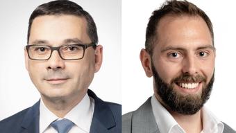 Stephan Campi (l.) wird neuer Generalsekretär. Michel Hassler übernimmt die Kommunikationsleitung.