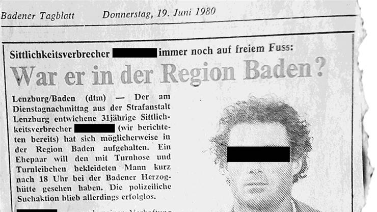«Chloroform-Unhold» im «Badener Tagblatt», 19.6.80