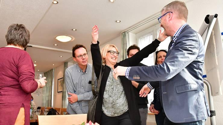 Das SP-Duo Marion Rauber (links) und Thomas Marbet strebt das Stadtpräsidium nicht an (hier ein Bild von den Stadtratswahlen am 12. März).