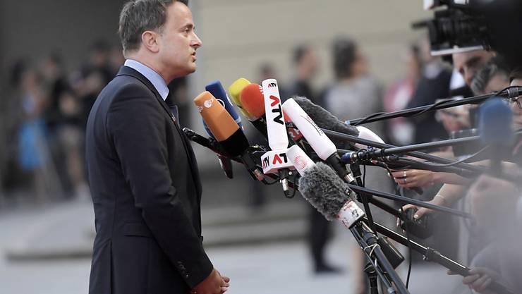 Luxemburgs Regierungschef Xavier Bettel reklamiert den Wahlsieg am Sonntagabend für sein Regierungsbündnis. (Archivbild)