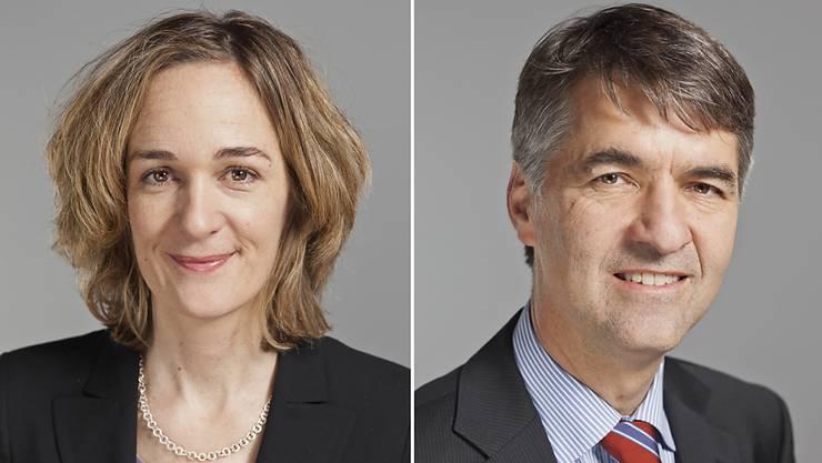 Die Berner SP-Gemeinderätin Ursula Wyss (links) steigt in die Stichwahl ums Berner Stadtpräsidium. Sie trifft dabei auf Alec von Graffenried von der Grünen Freien Liste. Die Stichwahl findet am 15. Januar 2017 statt. (Archivbilder)