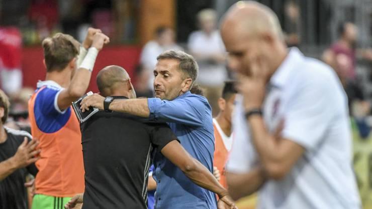 Erstes Spiel, erster Sieg: Wohlens Trainer Ranko Jakovljevic darf jubeln.