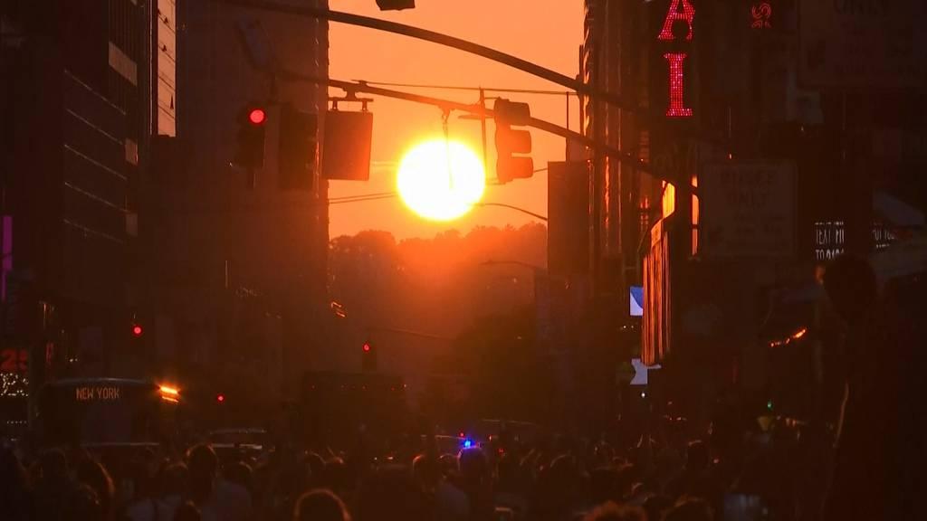 «Manhattanhenge»: Atemberaubende Bilder aus New York!