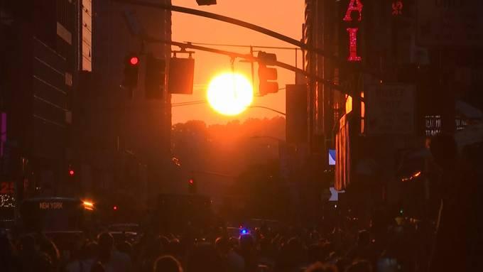 «Manhattanhenge»: Wenn die Sonne perfekt steht