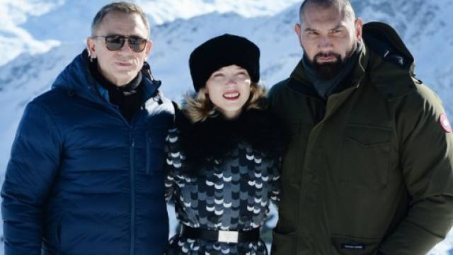 Daniel Craig, Léa Seydoux, Dave Bautista vor dem Bond-Dreh (Archiv)