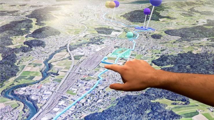 Mit guten Leistungen will die Limmatstadt AG ihre Kritiker überzeugen. Eines ihrer bekanntesten Projekte ist das 3D-Modell des Limmattals (im Bild). (Archiv)