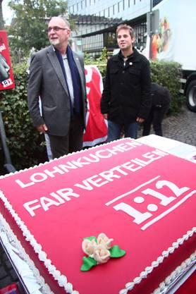 SP-Grossrat Kurt Emmenegger (links) und Juso Präsident Sascha Antenen