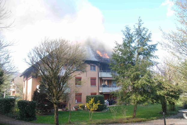 Der Brand befand sich im zweiten Stock.