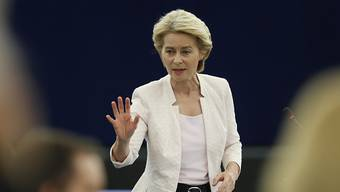 Die künftige EU-Kommissionspräsidentin Ursula von der Leyen hat sich für eine Reform der Dublin-Regeln zum Umgang mit Asylbewerbern ausgesprochen. (Archivbild)
