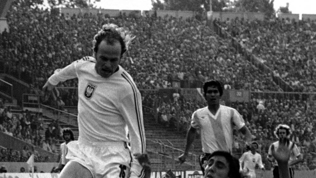 Grzegorz Lato trifft gegen Argentinien