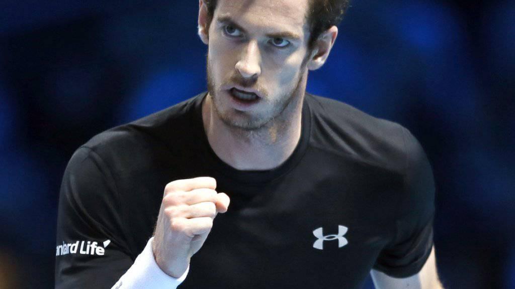 Gelungener Einstand auf heimischem Boden: Andy Murray gewann sein Auftaktspiel in London gegen David Ferrer