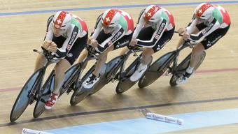 Schweizer Team in der 1. Runde der Verfolgung