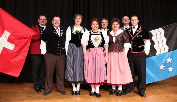 Der Vorstand (v.l.): Patrik Noser, Thomas P. von Arx, Karin Ramseyer, Silvia Meister-Bader, Bruno Vaterlaus, Helga Schmid-Zimmermann, Dany Brändli, Heiko Steiner.