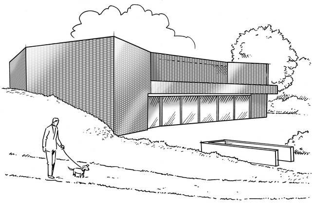 Aussen-Ansicht Tierheim-Neubau