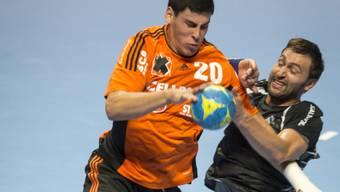 Stemmte sich im Europacup in Frankreich erfolgreich gegen die sich abzeichnende Niederlage: Pfad Winterthurs Marcel Hess (rechts, Archivbild)