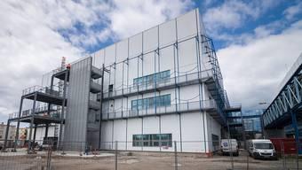 Das Biotechnikum im elsässischen Huningue, 300 Meter von der Grenze zu Basel