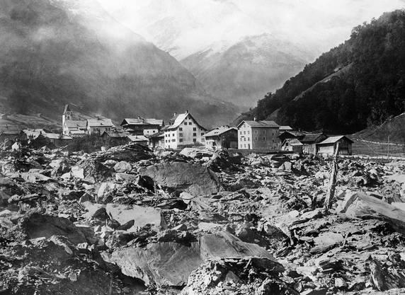 Der Bergsturz von Elm löste in der ganzen Schweiz eine Solidaritätswelle aus.