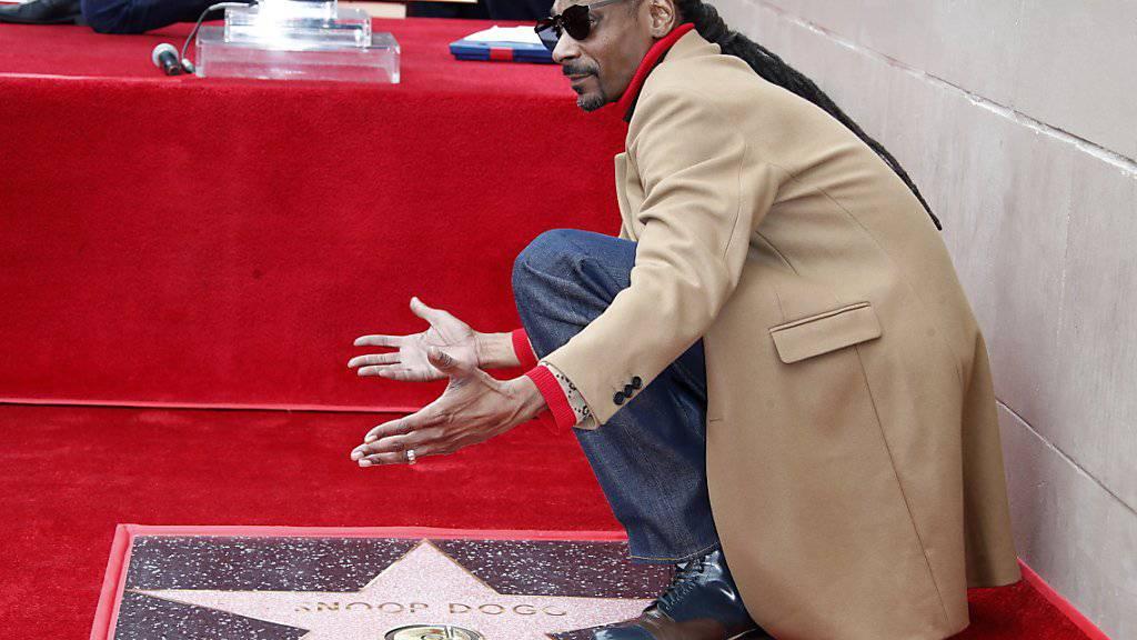 Snoop Dogg bekommt Stern in Hollywood