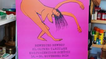 Das Plakat zu den Tanztagen 2016.