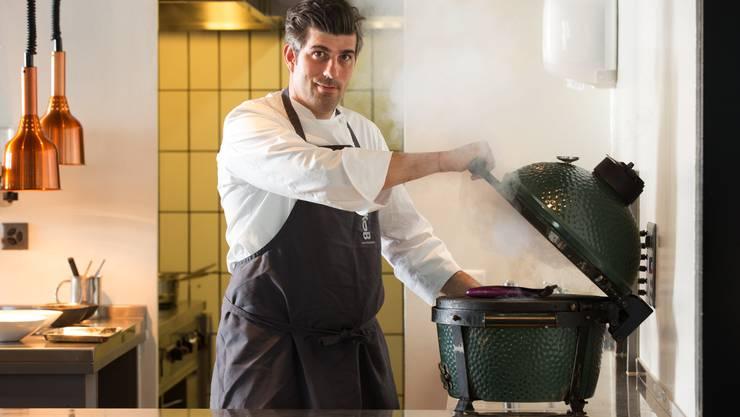 «Ich will die ganze Verantwortung für meine Gerichte übernehmen – vom Acker bis auf den Teller», sagt Markus Burkhard, Chefkoch des Restaurants Jakob in Rapperswil. Bild: Marcus Gyger