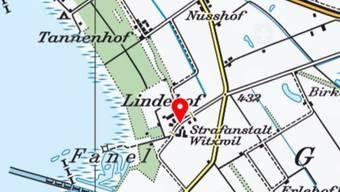 Auf dem Gelände der Strafanstalt Witzwil campieren derzeit rund 350 ausländische Fahrende.