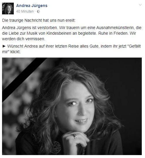 Facebook / Andrea Jürgens