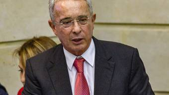 ARCHIV - Alvaro Uribe, ehemaliger Präsident von Kolumbien,  gibt seinen Sitz im Senat auf. Foto: Daniel Garzon/Zuma Press/dpa