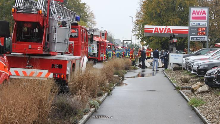 Die Feuerwehr vor Ort