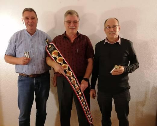 Geehrt: von links Urs Koller, René Beck und Andreas Huser.