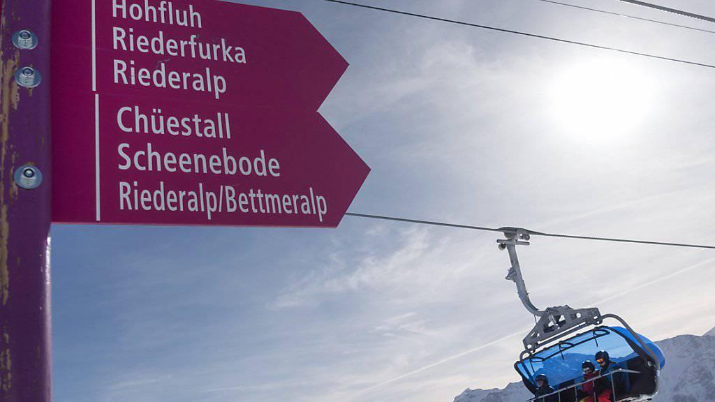 Die Bergbahnen der Rieder- und der Bettmeralp wollen mit den Luftseilbahnen Fiesch-Eggishorn fusionieren, um im harten Verdrängungswettbewerb bestehen zu können. (Archivbild)