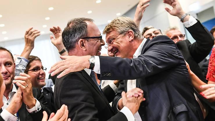 Bei den Landtagswahlen in zwei ostdeutschen Bundesländern hat die AfD am Sonntag deutlich zugelegt und die rechtspopulistische Partei zeigte sich über die Resultate zufrieden.
