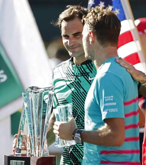 «Er lacht. Er ist ein Arschloch.» Stan Wawrinka nach seiner Niederlage gegen Roger Federer. © Keystone