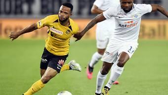 Meschack Elia (links, gegen Zürichs Umaru Bangura) ist ein Hoffnungsträger im Angriff der Young Boys