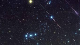 Heute und morgen Nacht sind bis zu 200 Sternschnuppen pro Stunde zu sehen (Bild: keystone)