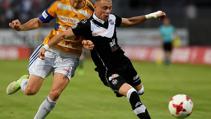 Ezgjan Alioski (rechts) erreichte mit Lugano die Gruppenphase der Europa League