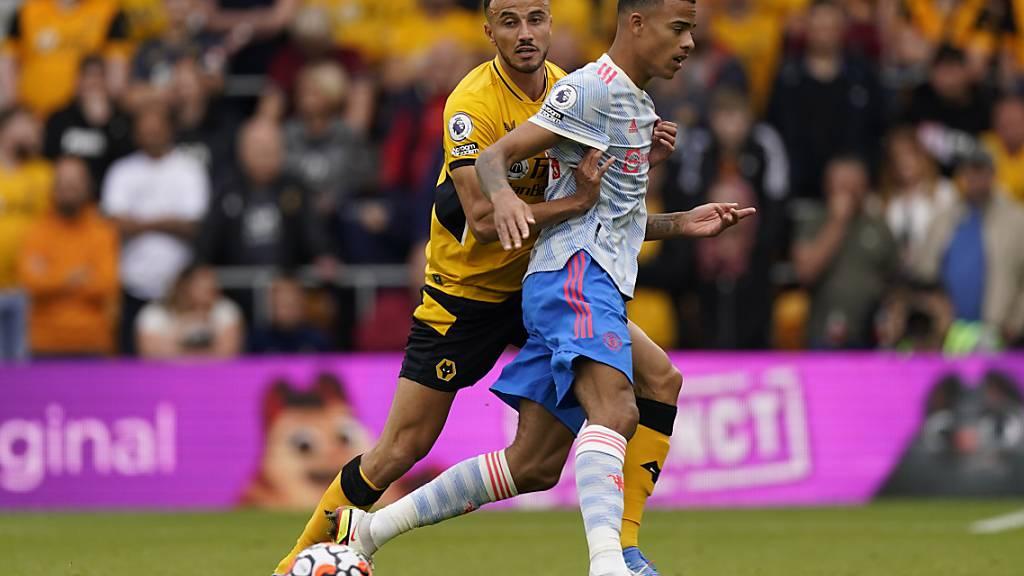 Nicht Cristiano Ronaldo, nicht Jadon Sancho: Der eigene Nachwuchsspieler Mason Greenwood (vorne) schoss das Siegestor für Manchester United