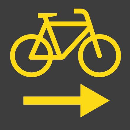 Rechtsabbiegen für Radfahrer gestattet