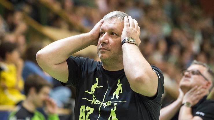 Böse Überraschung: Trainer Predrag Borkovics St. Otmar verliert das St. Galler Derby gegen Aussenseiter Fortitudo Gossau