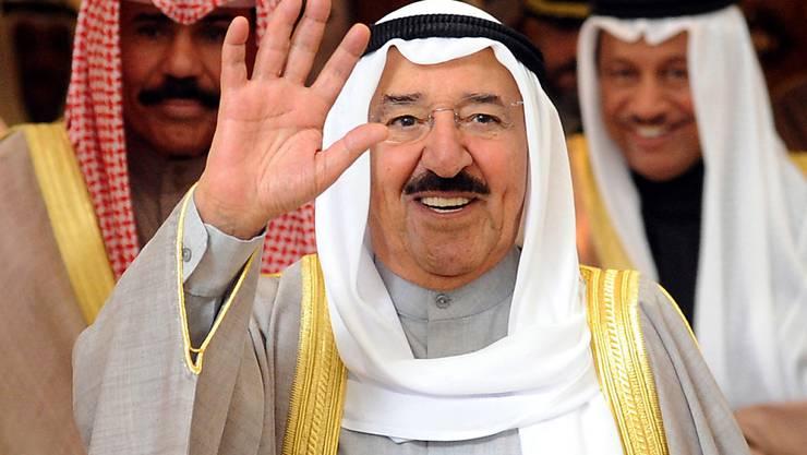 ARCHIV - Scheich Sabah al-Ahmed al-Sabah, Emir von Kuwait, der den ölreichen Staat am Persischen Golf seit 2006 regierte, ist tot. Foto: Raed Qutena/EPA/dpa