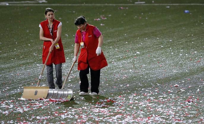 Die Hinterlassenschaften nach dem Cupfinal waren gross.