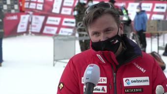 """Swiss-Ski-Präsident Urs Lehmann: """"Es wird weitere flächendeckende Tests geben und eine hermetische Abriegelung des Renngebiets."""" (10.1.2021)"""