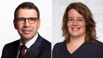 Gleiche Partei, unterschiedliche Meinung: Matthias Jauslin und Jeanine Glarner von der FDP.