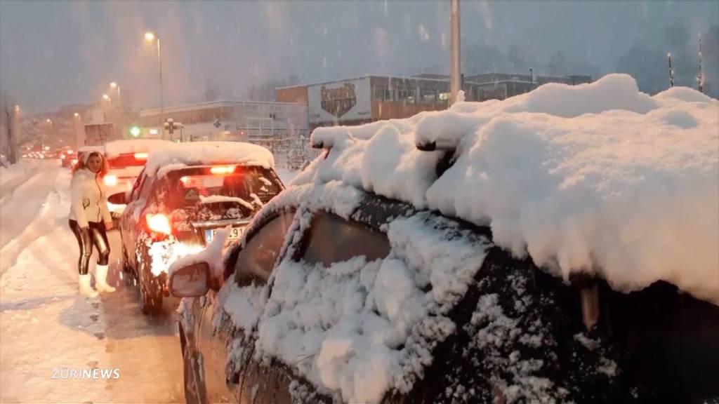 Schnee-Chaos im Tessin
