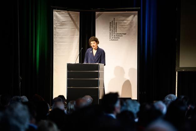 Eröffnung Literaturtage 2018, im Bild Reina Gehrig